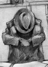 Иллюстрация Георгия Тандашвили к рассказу «Стол Рентгена»